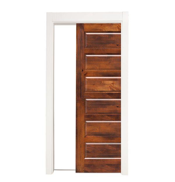 6 Panel Single Pocket Door