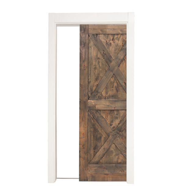 Double X Single Pocket Door