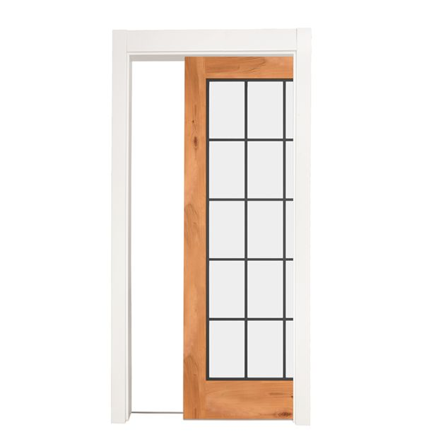 Farmhouse French Full Single Pocket Door