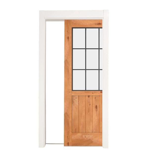 Farmhouse French Half Single Pocket Door