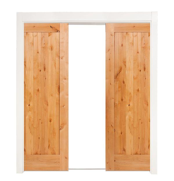 Lewiston Double Converging Pocket Doors