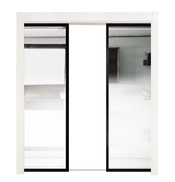 Ponder Mirror Double Converging Pocket Doors