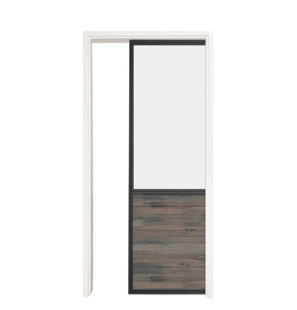 Chalet Single Pocket Door