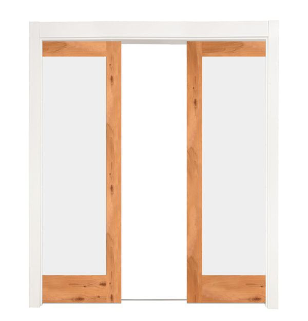 Manor Double Converging Pocket Doors