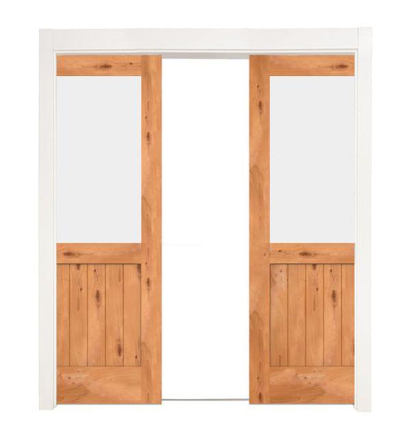 Riverside Double Converging Pocket Doors