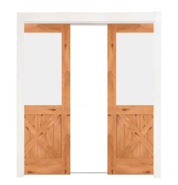 Backwoods Double Converging Pocket Doors