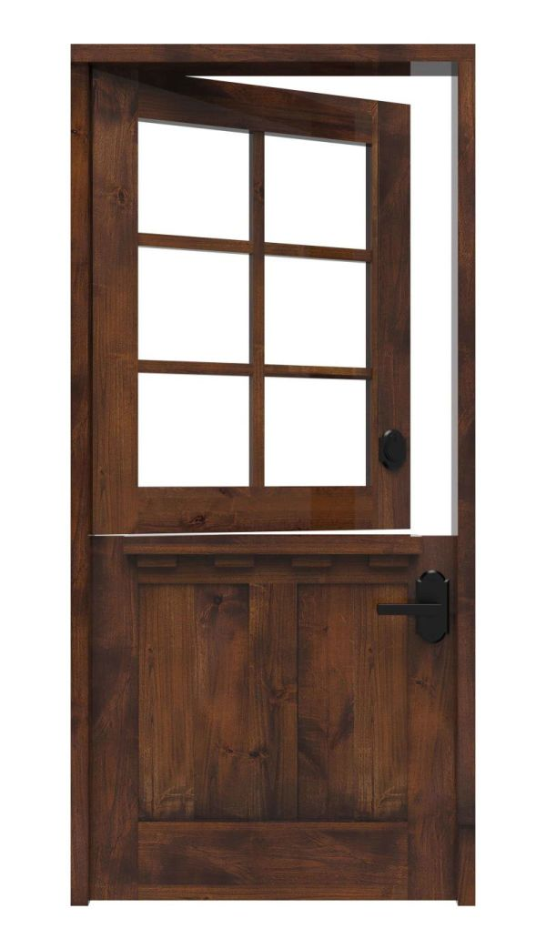 Dairy Dutch Front Door With Shelf