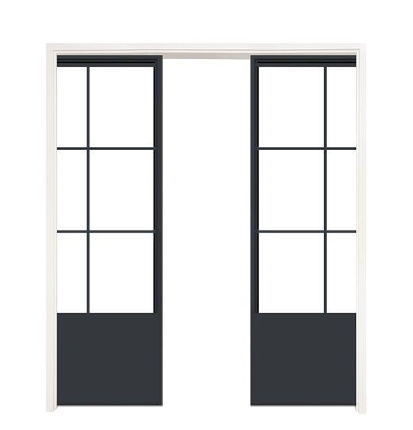 French Quarter Converging Pocket Doors