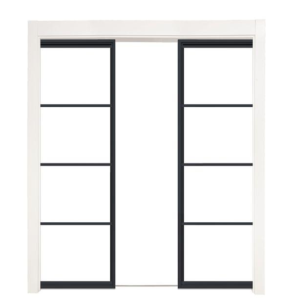 Modern Cottage Converging Pocket Doors