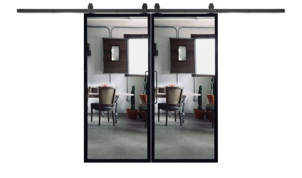 Ponder Mirror Double Barn Door