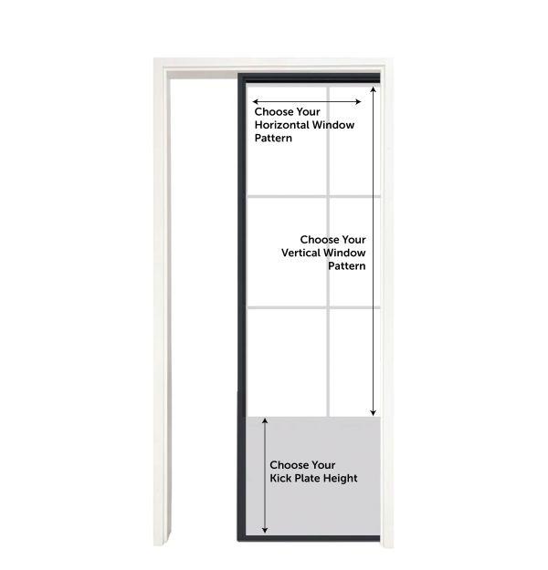 Customizable Metal Pocket Door