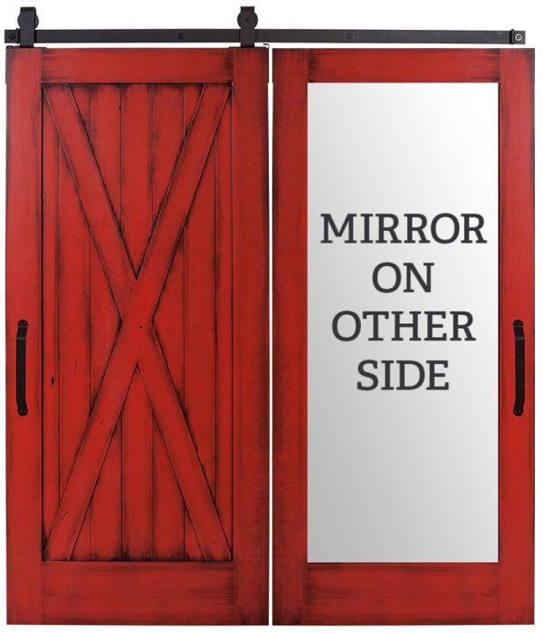 Full X Mirror Barn Door