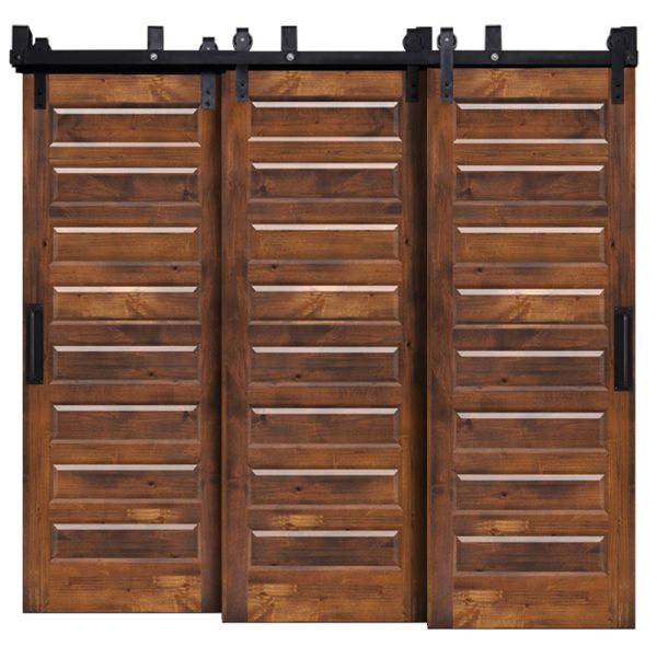 8 Panel Triple Bypass Barn Doors