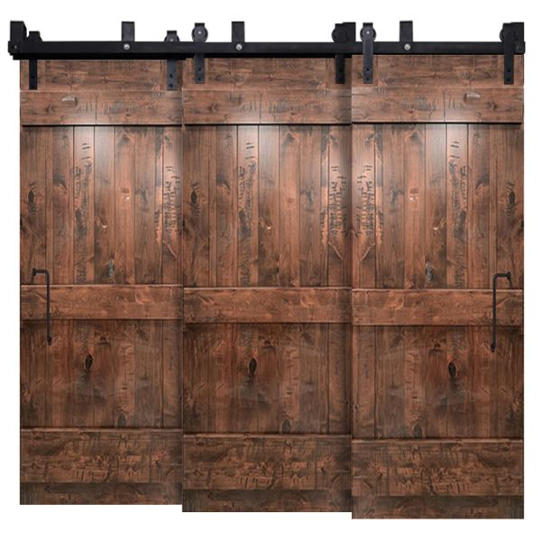 Ranch Triple Bypass Barn Door