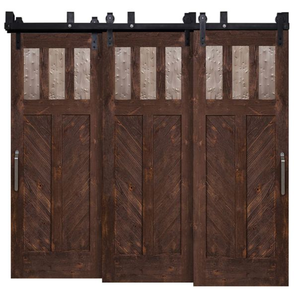 Chevron Triple Bypass Barn Doors