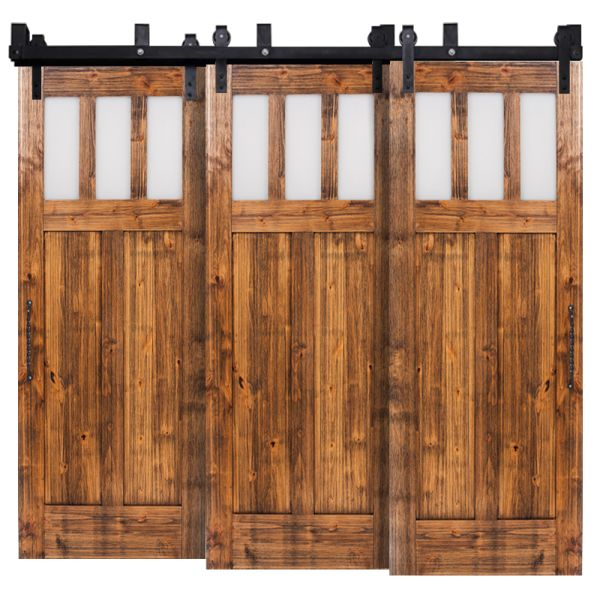 Craftsman Triple Bypass Barn Doors