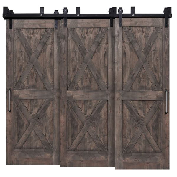 Double X Triple Bypass Barn Doors