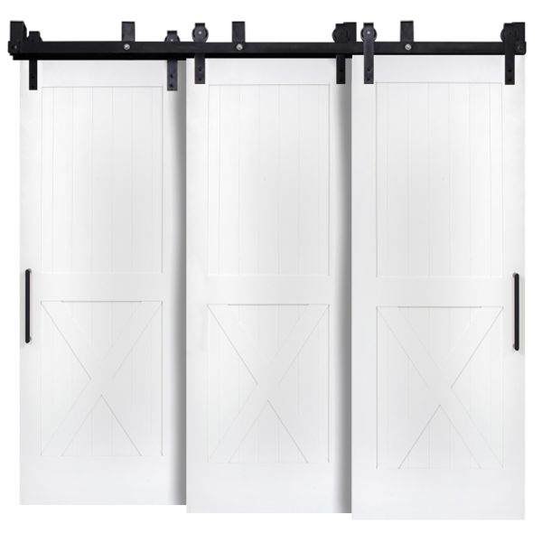 Half X Triple Bypass Barn Doors
