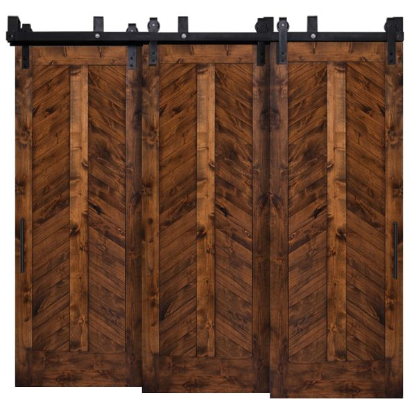 Heartland Chevron Triple Bypass Barn Doors