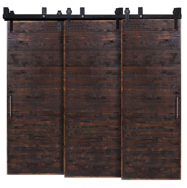 Horizontal Rip Top Triple Bypass Barn Doors