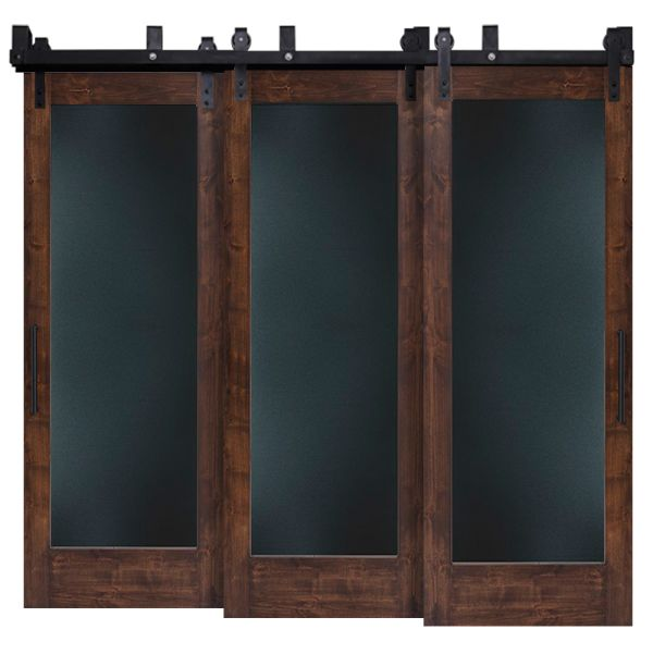 Smooth Operator Metal Panel Triple Bypass Barn Doors