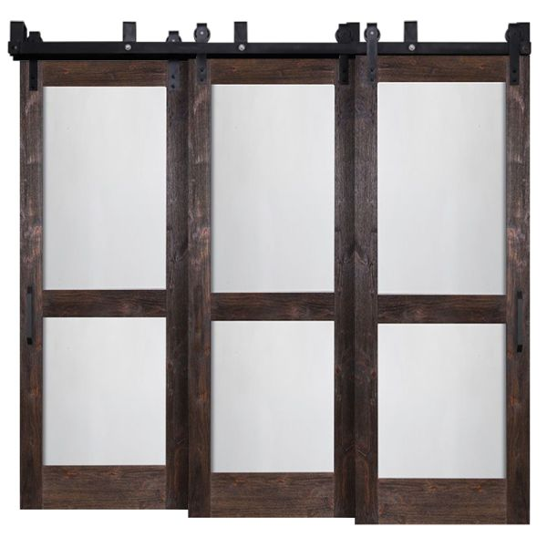Split Whiteboard Triple Bypass Barn Doors