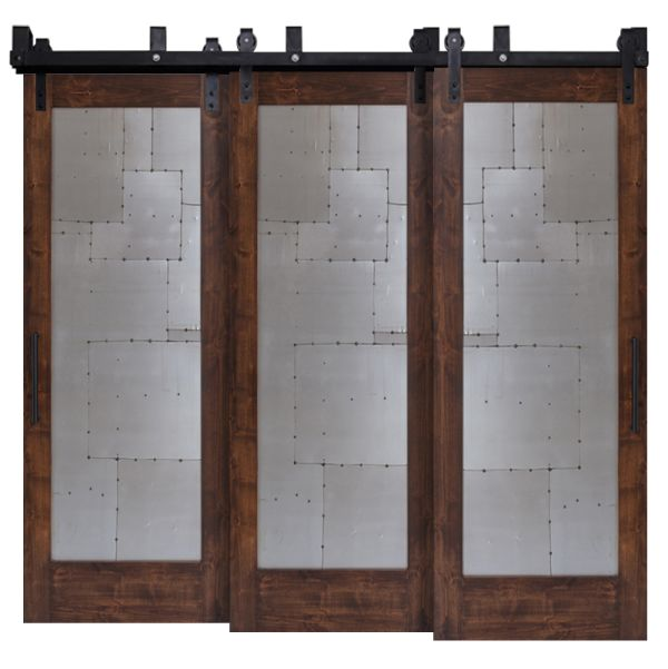 Steampunk Triple Bypass Barn Doors