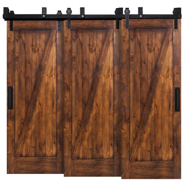Z Triple Bypass Barn Doors