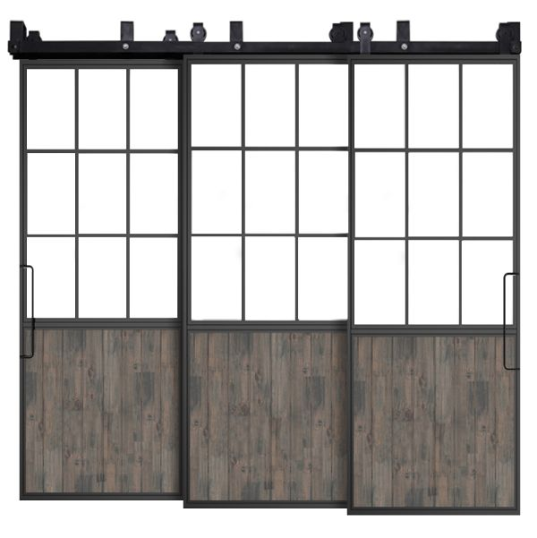 Mountain French Half Triple Bypass Barn Doors