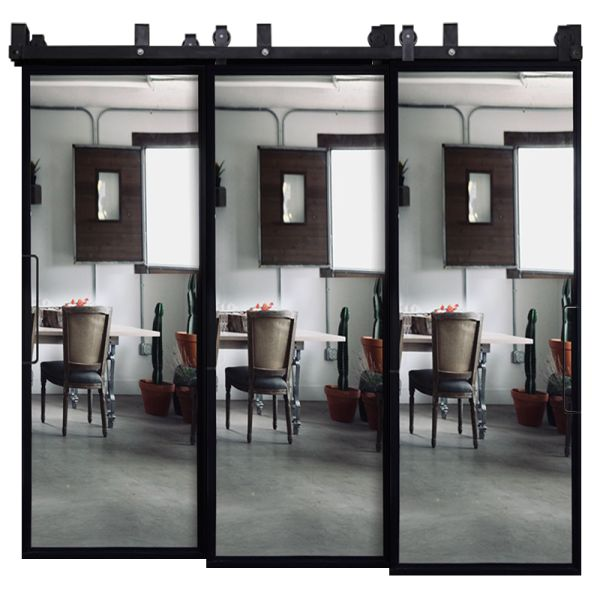 Ponder Mirror Triple Bypass Barn Doors