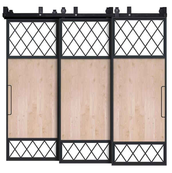 Tiller Shed Triple Bypass Barn Doors