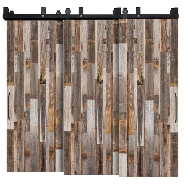 Vertical Barn Wood Reclaimed Triple Bypass Barn Doors
