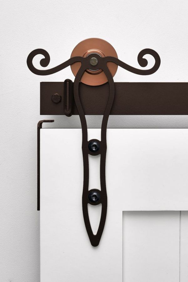 Rod Iron Scroll Barn Door Hardware