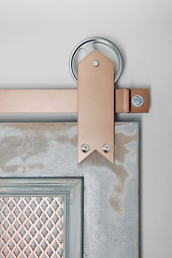 Ribbon Barn Door Hardware - Big Wheel