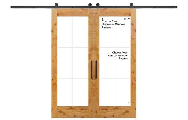 Customizable Wood Double Barn Door