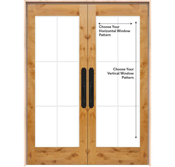 Customizable Exterior Wood Double Door