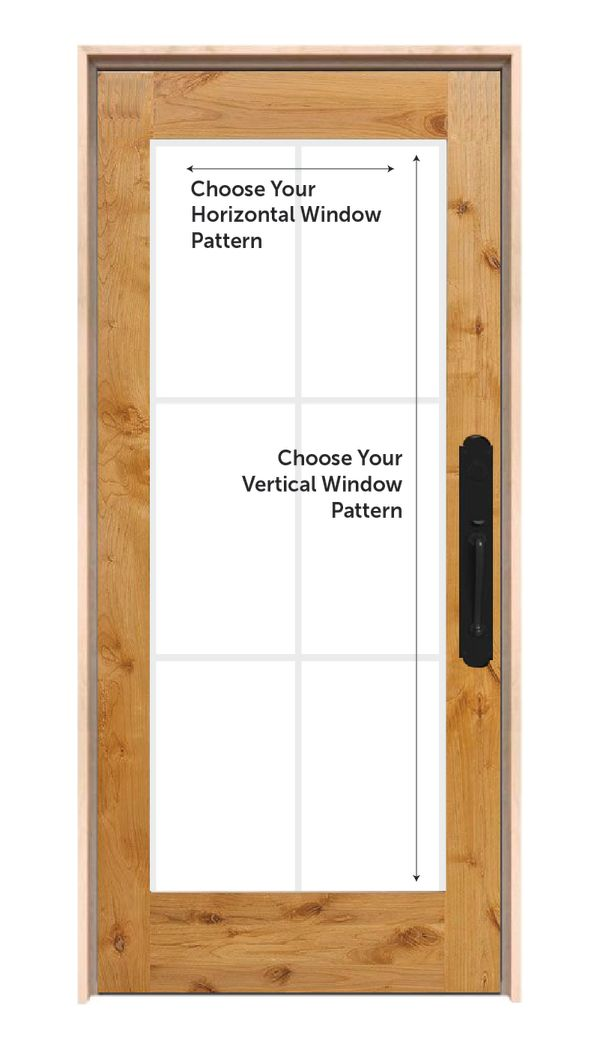 Customizable Wood Exterior Door