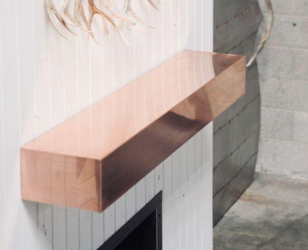 Element Copper Fireplace Mantel