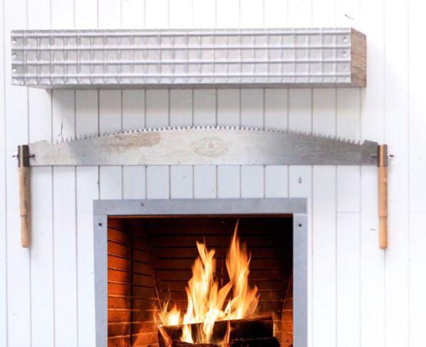 Iron Weaver Fireplace Mantel