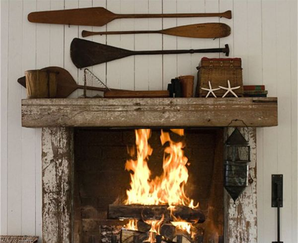 Timber Fireplace Mantel