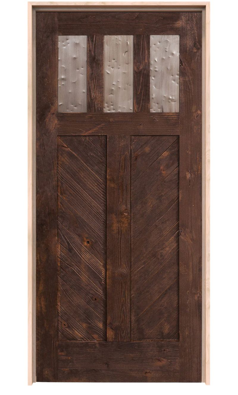 Chevron Exterior Door