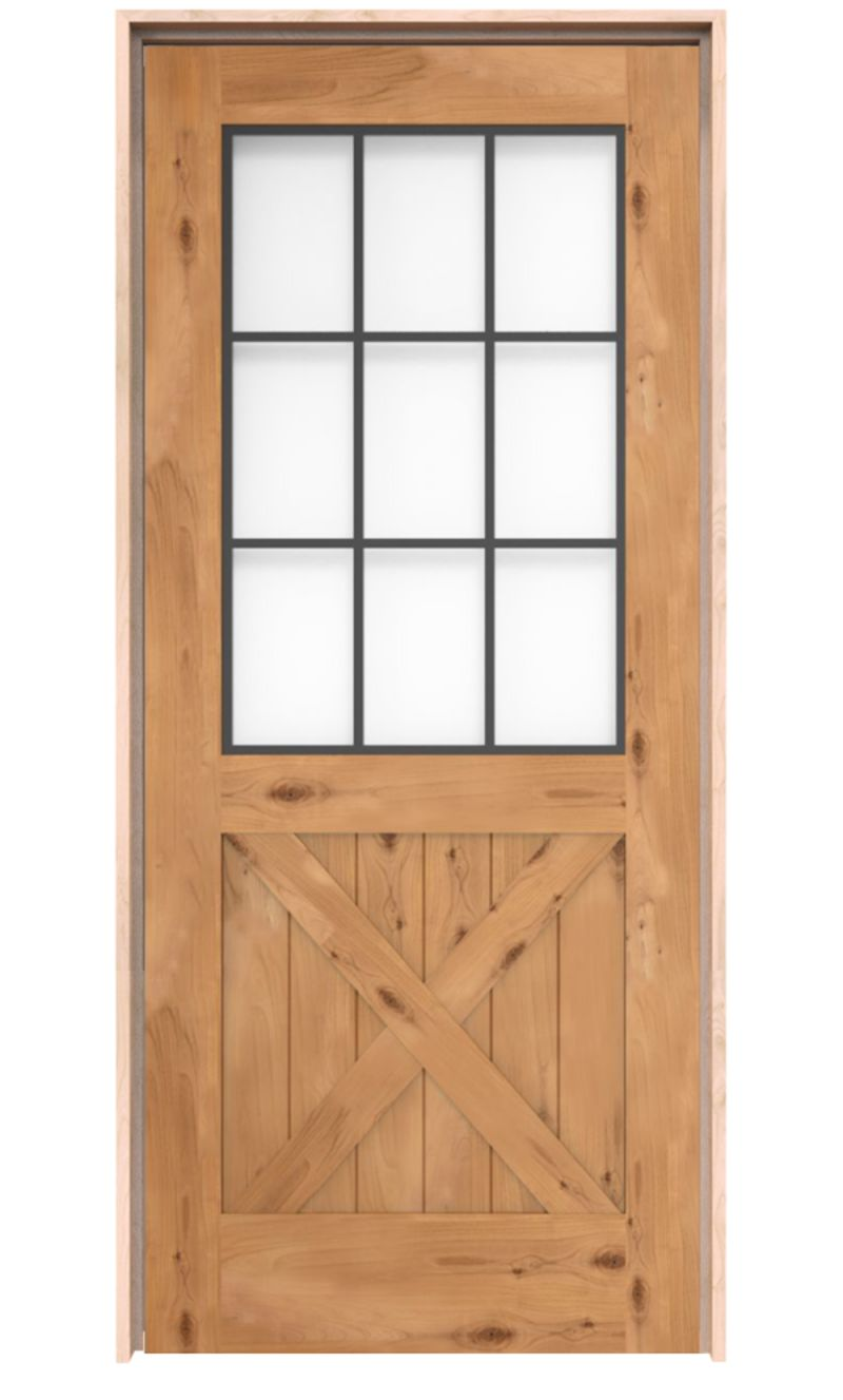 Farmhouse French Half X Exterior Door