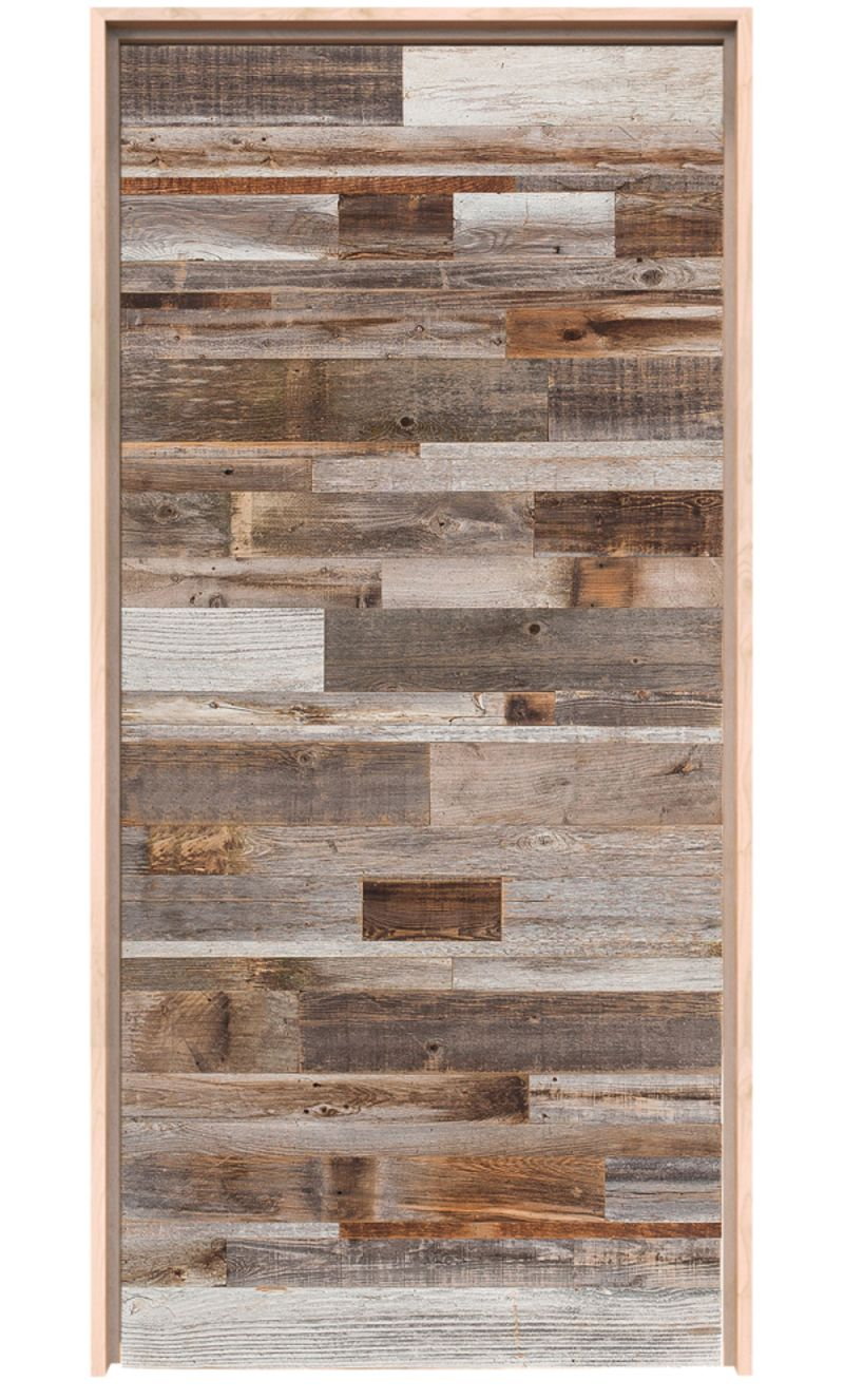Horizontal Barn Wood Exterior Door