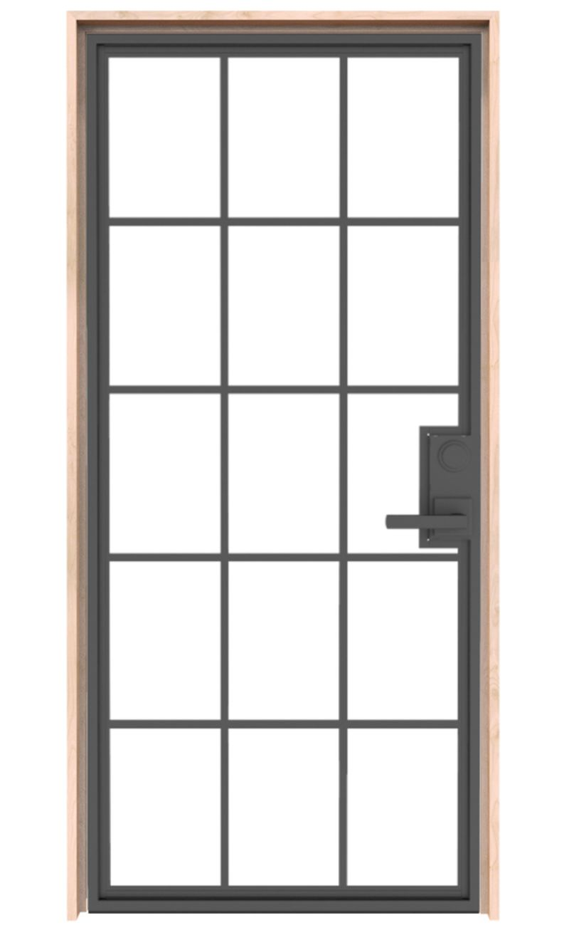 Mountain French Full Exterior Door
