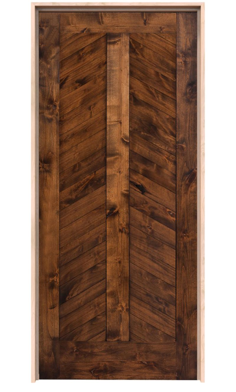 Heartland Chevron Exterior Door