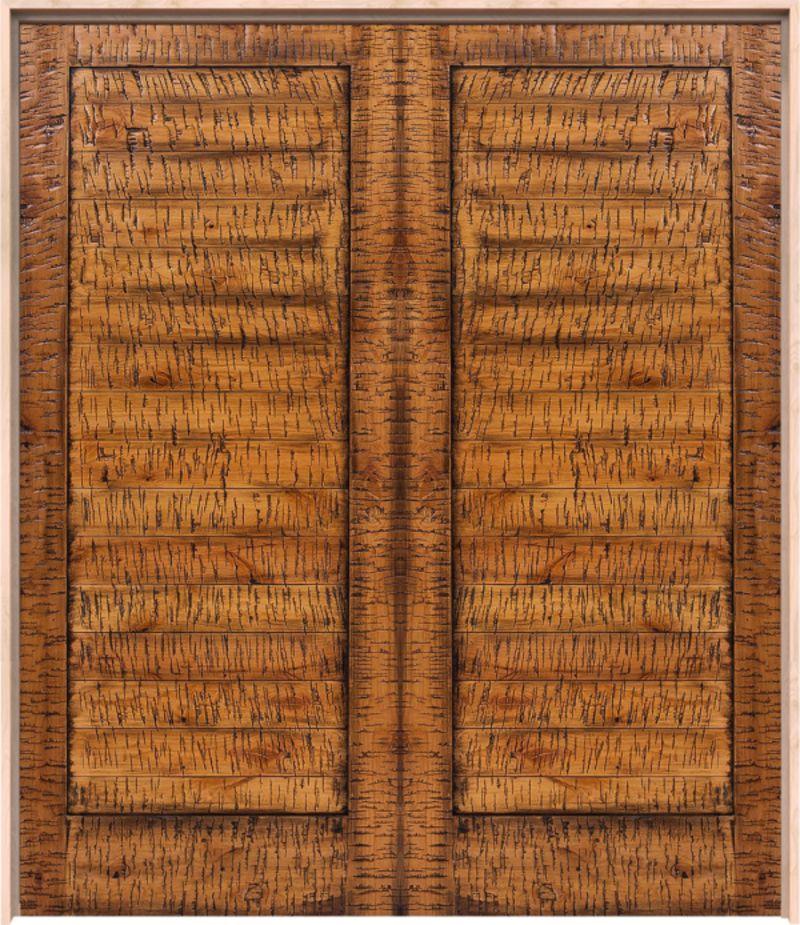 Horizontal Lewiston Exterior Double Door
