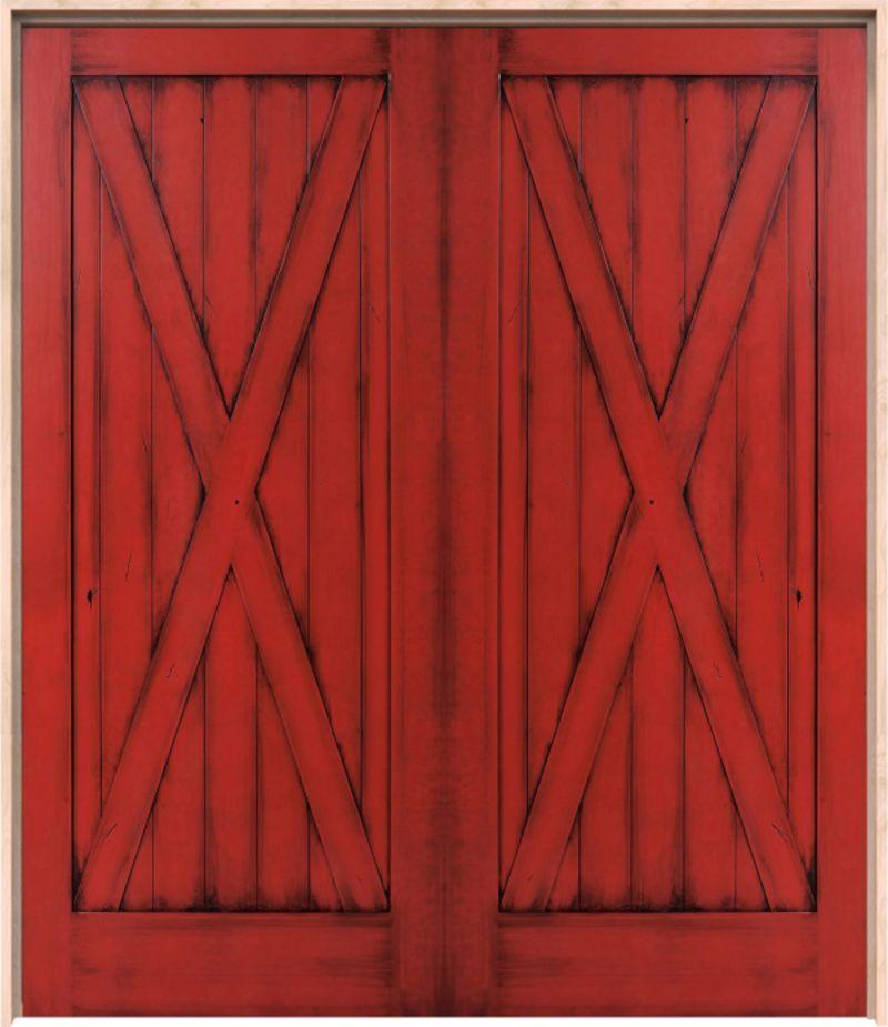Full X Exterior Double Door