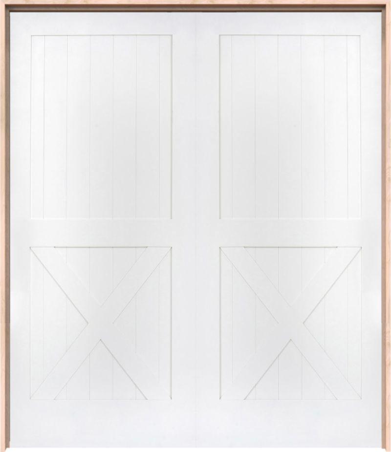 Half X Exterior Double Door
