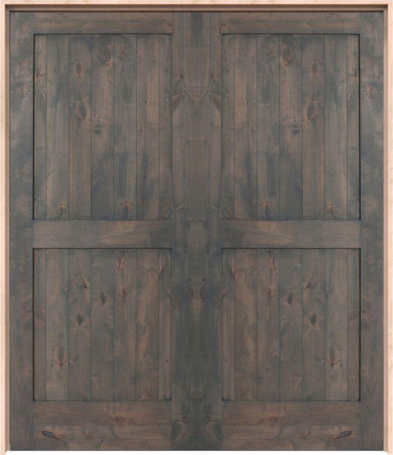 Two Panel Exterior Double Door