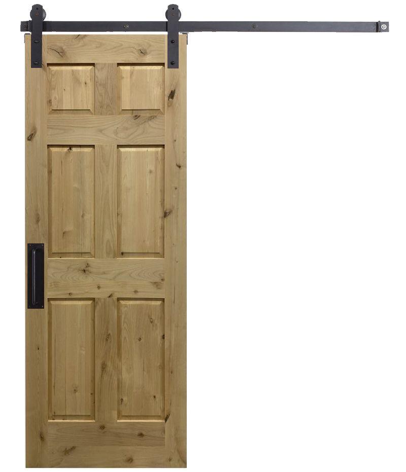6 Panel Colonial Barn Door